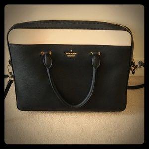 kate spade leather laptop bag